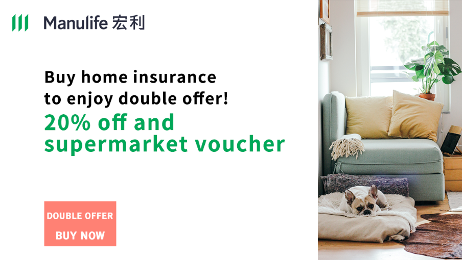 Buy home insurance to enjoy double offer!