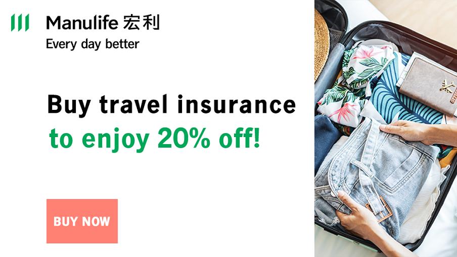 Enjoy 20% off travel insurance